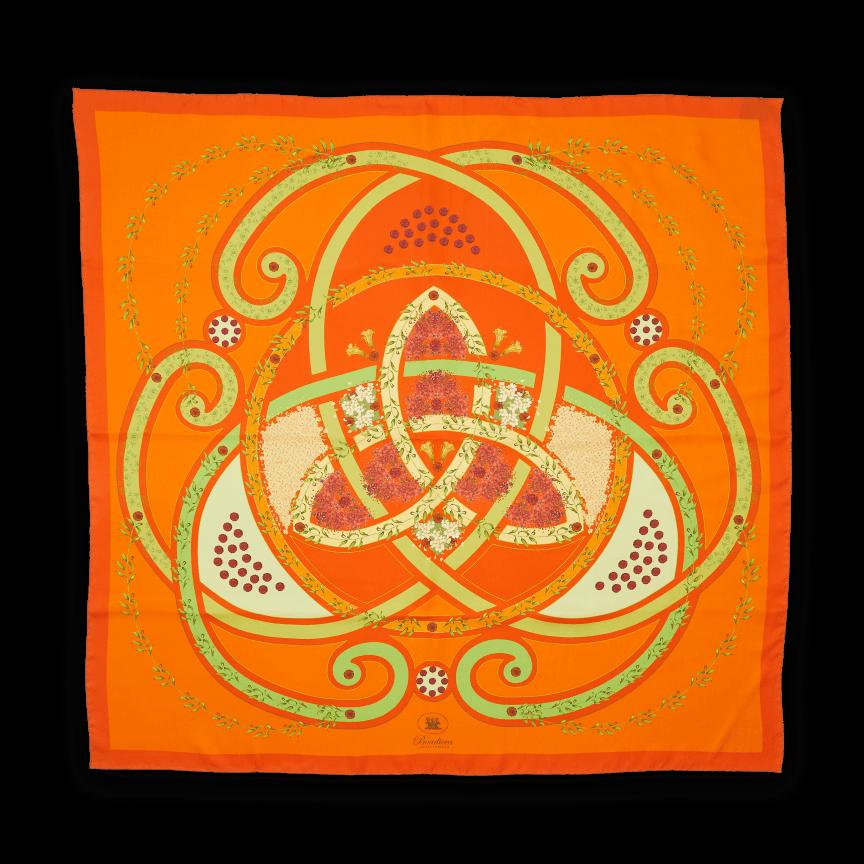 Floral flourish Orange Scarf